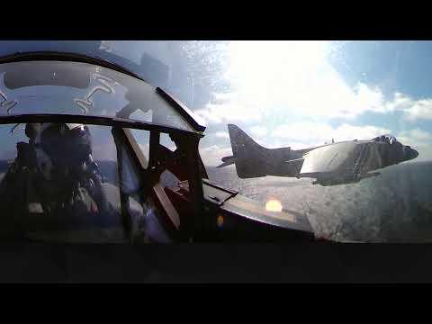 "Spanish Navy jet ""Harrier II"" show - 360 VR"