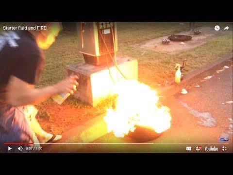 starter-fluid-and-fire!