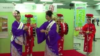 旅フェア日本2013 3日目さんさ踊り披露 ミス横笛特集2 北條郁佳(ほうじょう あやか)