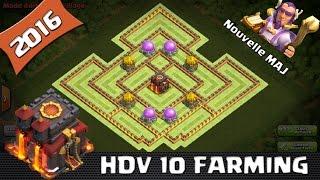 Clash Of Clans, Village HDV 10 FARM, 2016 nouvelle Maj ! New Héro !