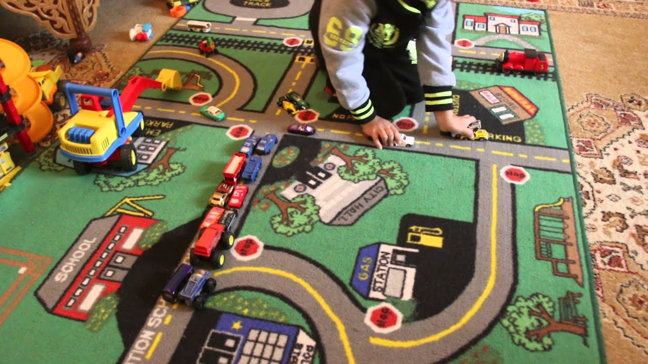 Traffic Jam With Cars Toys Youtube