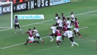 Gol do Atlético anulado no jogo contra o Anápolis