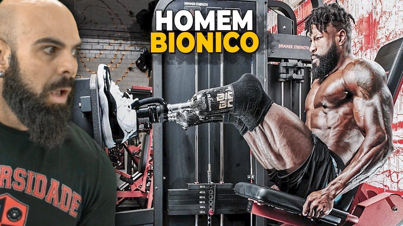 REAGINDO AO TREINO DO BODYBUILDER BIÔNICO | EDGARD BIONIC BODY 🦿