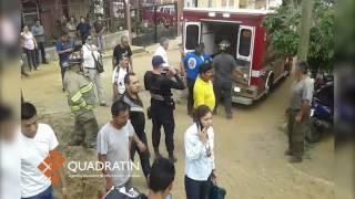 Un muerto y dos atrapados tras hundimiento en Uruapan