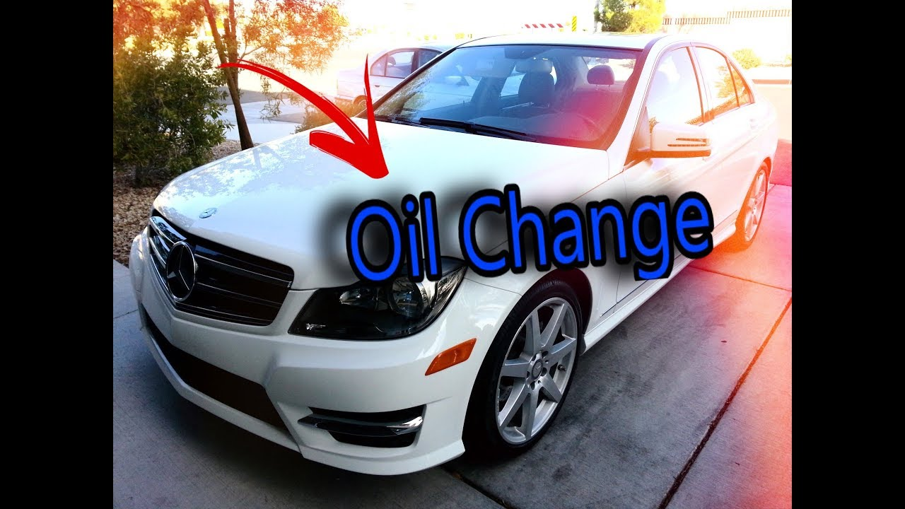 How to do an oil change on a 2014 mercedes c250 youtube for Cost of oil change for mercedes benz c250