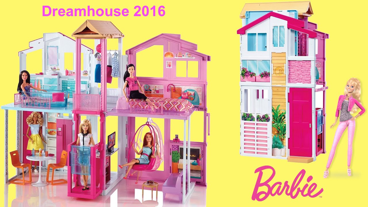 Barbie Dreamhouse 2016 3 Story Townhouse Unboxing And