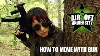 How to move with an airsoft gun