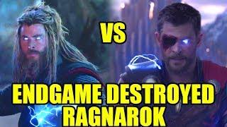 How Avengers Endgame & Infinity War Destroyed Thor Ragnarok Logics & Thor Character