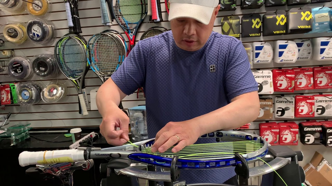 HOW TO STRING PRINCE SPEED PORT O3 TENNIS RACKET
