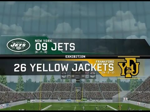 on sale f68e7 15557 2009 New York Jets vs. 1926 Frankford Yellow Jackets