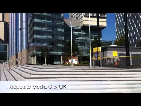 Video footage of The Lowry Theatre at Salford Quays and Med