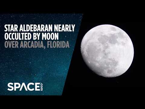 Giant Star Aldebaran Nearly Occulted by Moon