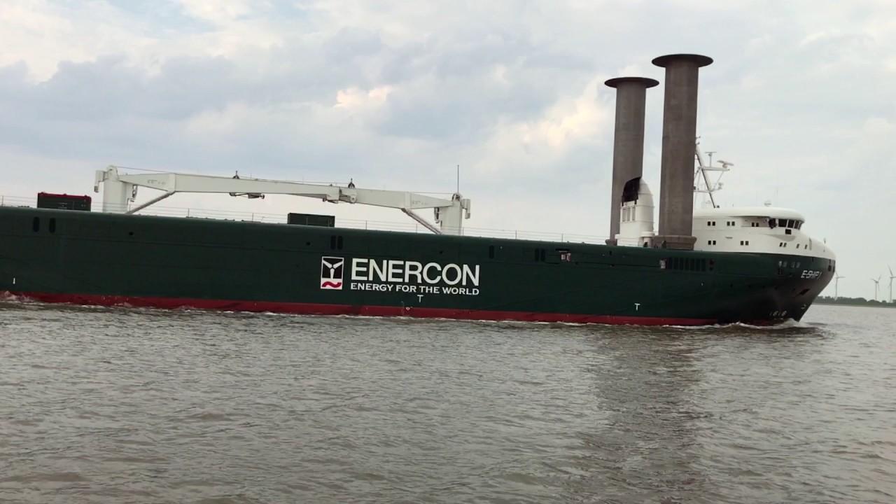 Enercon E Ship 1 Flettner Rotorschiff Youtube