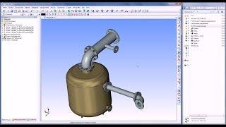 Использование коннекторов - Трубопроводы(Данный пример демонстрирует использование коннекторов при 3D моделировании сборок. 3D элементы трубопровод..., 2012-07-27T16:08:46.000Z)