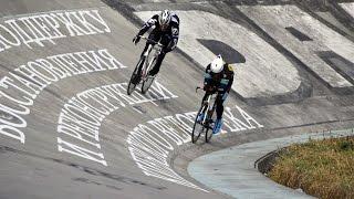 Первая любительская гонка на Киевском велотреке!