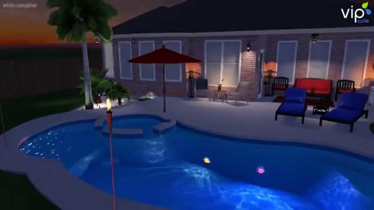 fiberclassy pools 3d pool design the allure 30 youtube