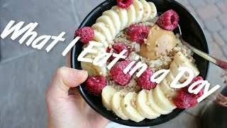 What I Eat in a Day + My Workout   EASY VEGAN FOOD