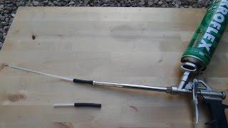 Как пользоваться пистолетом для пены.Как запенить Потолок[1мм.стыки,щели]Пистолет для монтажной пены