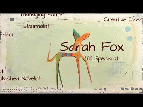 S. G. Fox - UX Digital Visual, Multimedia and Content Specialist