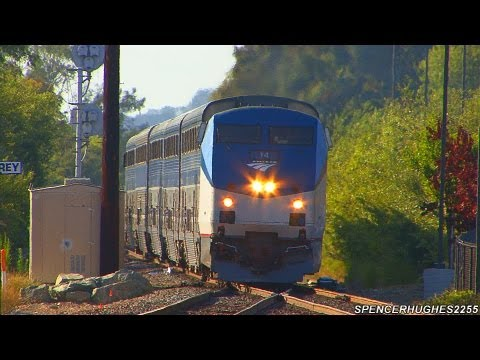 Amtrak Surfliners passing through Sorrento Valley (August 21, 2012)