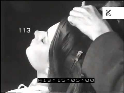1940s Rare Footage in a London Beauty Salon - Hair Styling