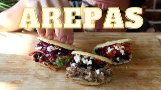 Arepas  How to make stuffed arepas