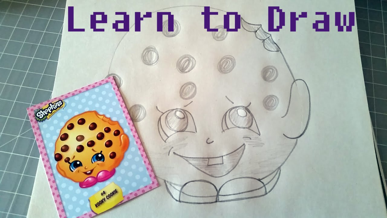 Perfect Learn To Draw Shopkins Kooky Cookie   YouTube