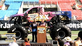 Press Conference announcing Monster Jam World Finals XX 2019