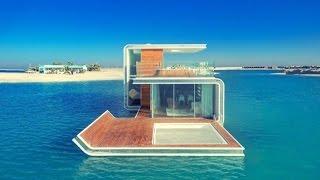 بالفيديو.. الانتهاء من 40 منزلا عائما في دبي