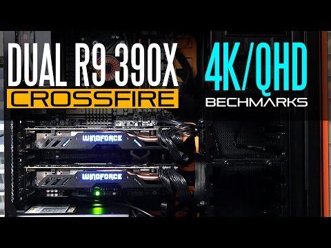 Overclocked Dual R9 390X /AMD FX 9590 Gaming Rig - 4k / Ultra Wide QHD Benchmarks