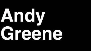 How to Pronounce Andy Greene New Jersey Devils NHL Hockey Player Runforthecube