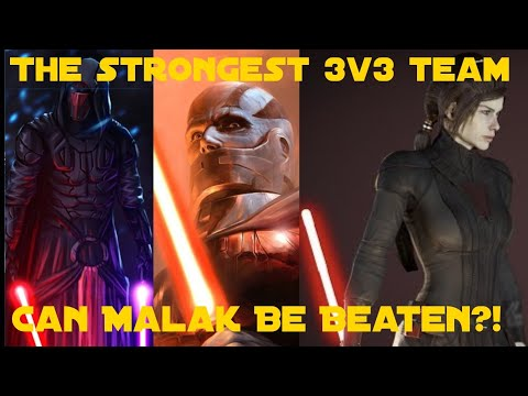 The Strongest 3v3 Team  Can Malak Be Beaten?! || Star Wars Galaxy of