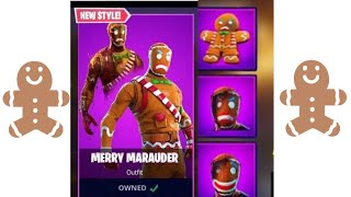 New Gingerbread Skins + Backpack in Fortnite | Bread TV