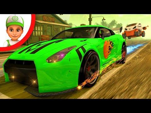 Auto Rennen Kinder. Autorennen Zeichentrick. Polizei Feuerwehr. Polizei Animation. Polizei Auto.
