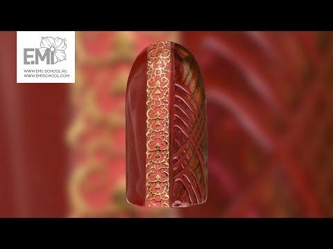 Водный маникюр обычным лаком | Fall Swirl Water Nails