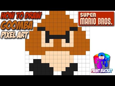 How To Draw A Goomba Super Mario Bros Youtube