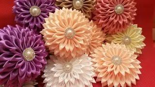 Цветы канзаши новый сбор✔ Marine DIY✔