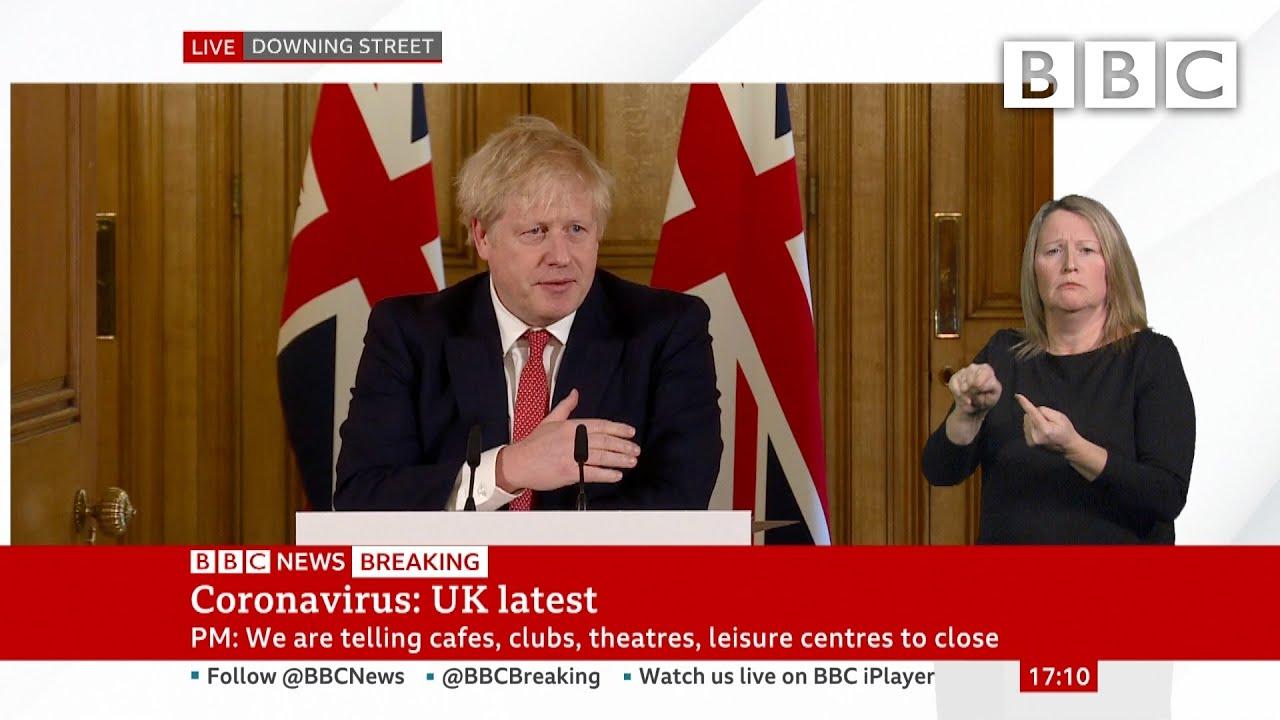 Coronavirus: Boris Johnson tells UK pubs and restaurants to shut in virus fight ? @BBC News - BBC