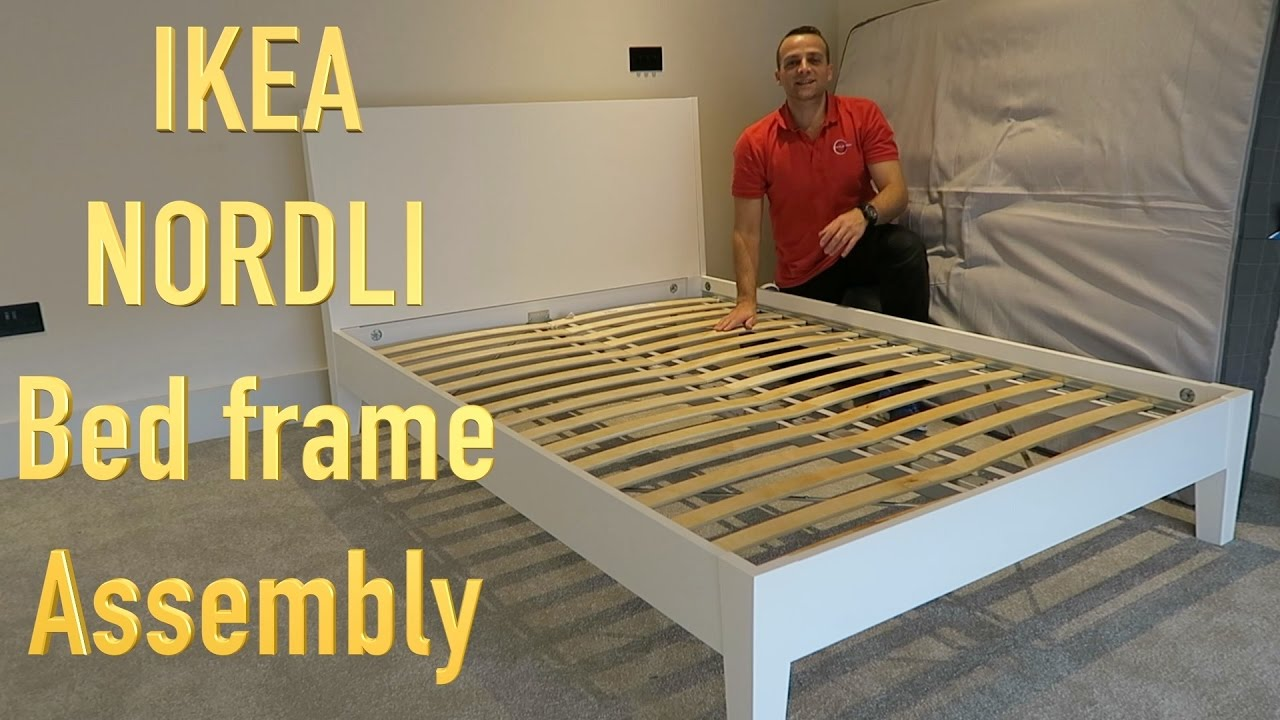 IKEA NORDLI Bed Frame Assembly - YouTube