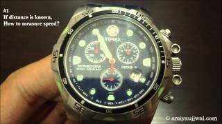 How to use tachymeter on watch?