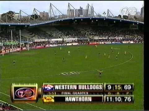1999 Footscray v Hawthorn, Optus Oval