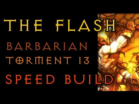 The FLASH  - Barbarian T13 Speed Farm Build  - Diablo 3 RoS 2.6.1 LIVE - Gaming with Baromir