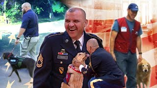 Sweet Moments When Vets Meet Their Service Dogs: Compilation