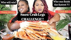 SEAFOOD BOIL MUKBANG , SNOW CRAB LEGS CHALLENGE  , Bloveslife Seafood Sauce