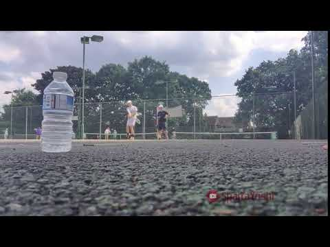 Epic tennis shot amazingly hits bottle