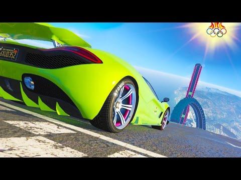 NEW GTA STUNT OLYMPICS - GTA 5 DLC IMPOSSIBLE CUSTOM STUNT RACES (GTA V)