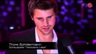 German Soap Award 2012 Jo Weil Thore Schölermann interview by Pointrouge
