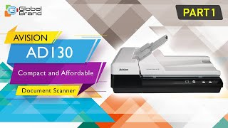 hOW TO SCAN WITH AVISION AD130 Compact and Affordable Document Scanner #Part2  Global Brand Pvt Ltd