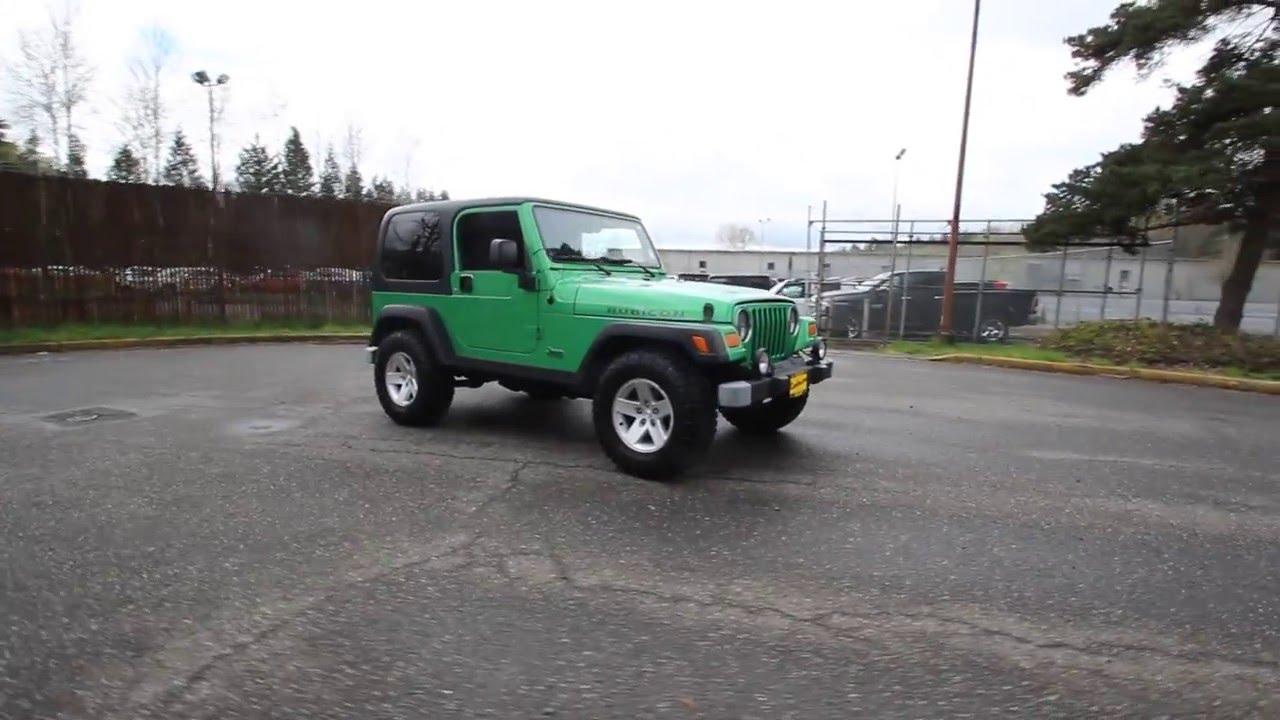 2004 jeep wrangler rubicon | electric lime green | 4p767241