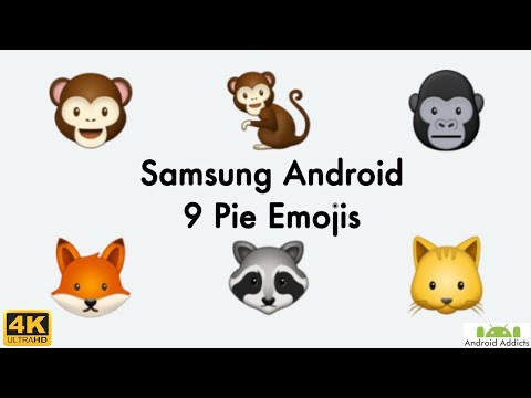 New Samsung Galaxy Android Pie 9.0 One UI Emojis In 4K (2019)